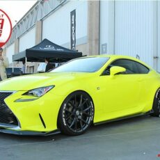 Yellow Lexus RC 200t 300 350 f sport base model 2015 2016 2017 2018 Side Skirts Blades lip kit as seen in sema show 2017 Nia Auto Design lip splitter body kit