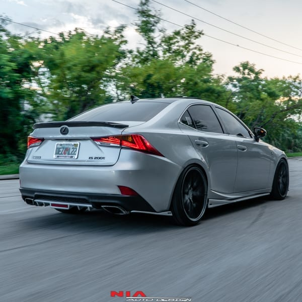 Lexus Is 250: Lexus IS NIA Rear Lip Spats (2017+)