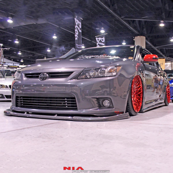 scion tc front splitter, front lip, front spoiler, front lip kit, front body kit, front ground effects kit, front aero kit