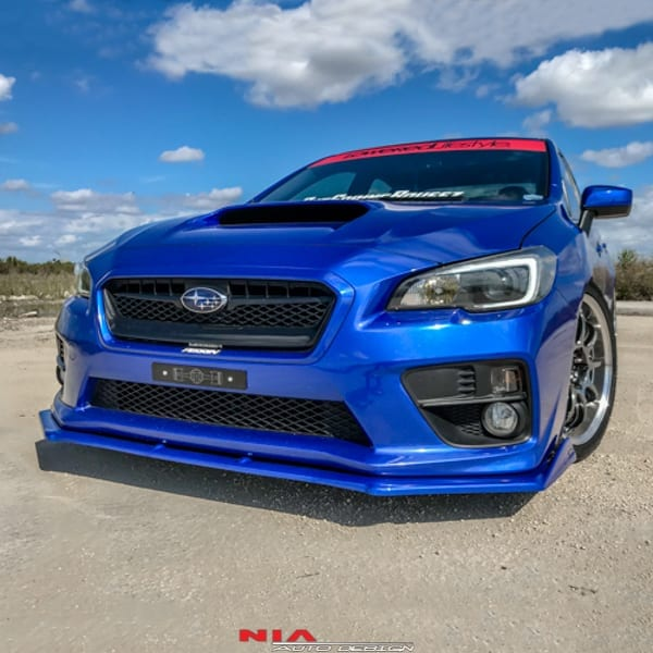subaru wrx nia front lip splitter chin spoiler 2015 nia auto design quality engineered body kits splitters lips spats side skirts diffusers eyelids spoilers subaru wrx nia front lip splitter chin spoiler 2015