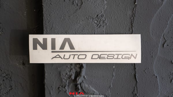 NIA Auto design decal sticker safe for paint windows body kit