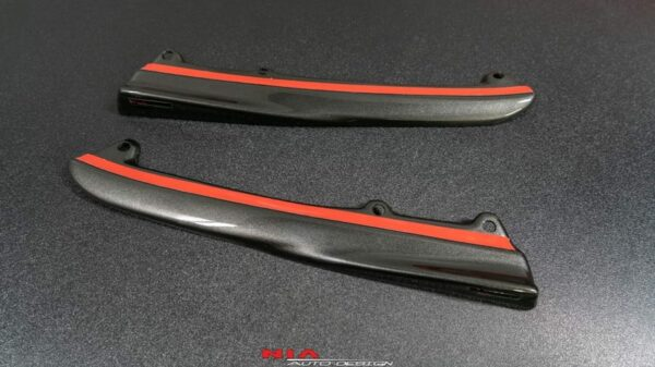 lexus isf rear bumper skirt extensions