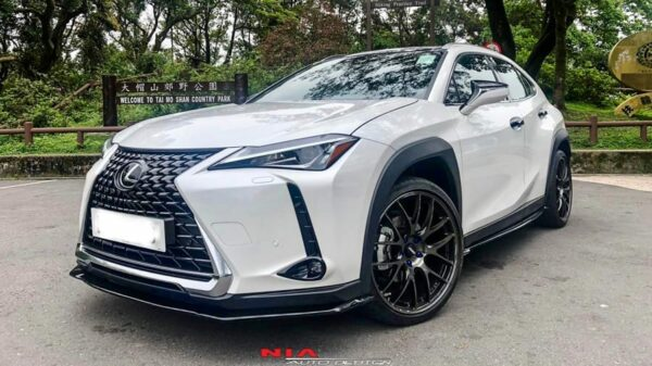 lexus ux 250h front splitter lip body kit