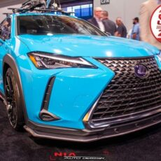 Lexus UX 250h ux200 ux250 f sport base model 2018 2019 2020 2021 front lip kit as seen at sema show 2018 Nia Auto Design front splitter body kit