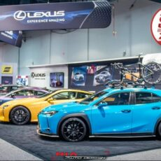 Lexus UX 250h ux200 ux250 f sport and base model 2018 2019 2020 2021 side skirts blades lip kit as seen at sema show 2018 Nia Auto Design side splitter body kit