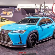 Lexus UX 250h ux200 ux250 f sport base model 2018 2019 2020 2021 full lip kit with front lip sides skirts rear spats as seen at sema show 2018 Nia Auto Design full splitter body kit