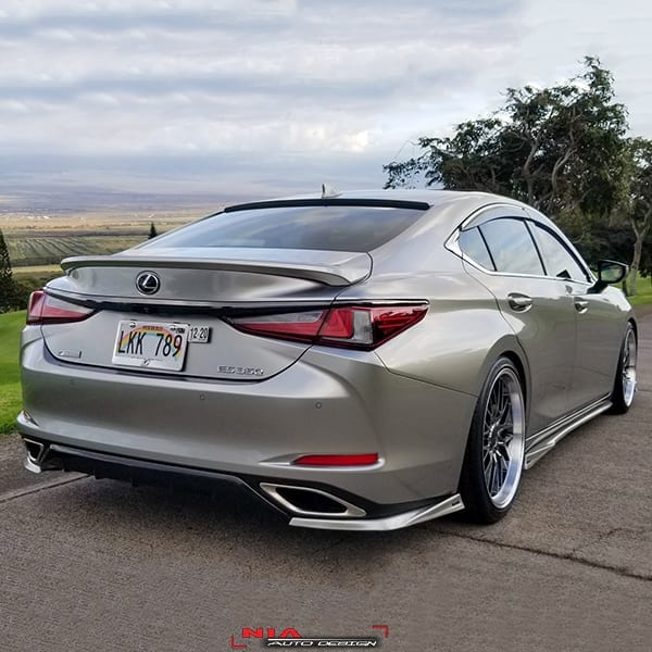 Toyota Fortuner 2020 Lexus Body Kit: Lexus ES350 ES300h NIA Rear Lip Spats Body Kit 2019-2020