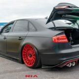 audi a4 rear spat lip body kit splitter ground effects audi a4 b8.5 rear lip