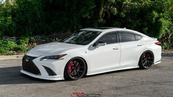 lexus es350 side skirt splitter lip body kit