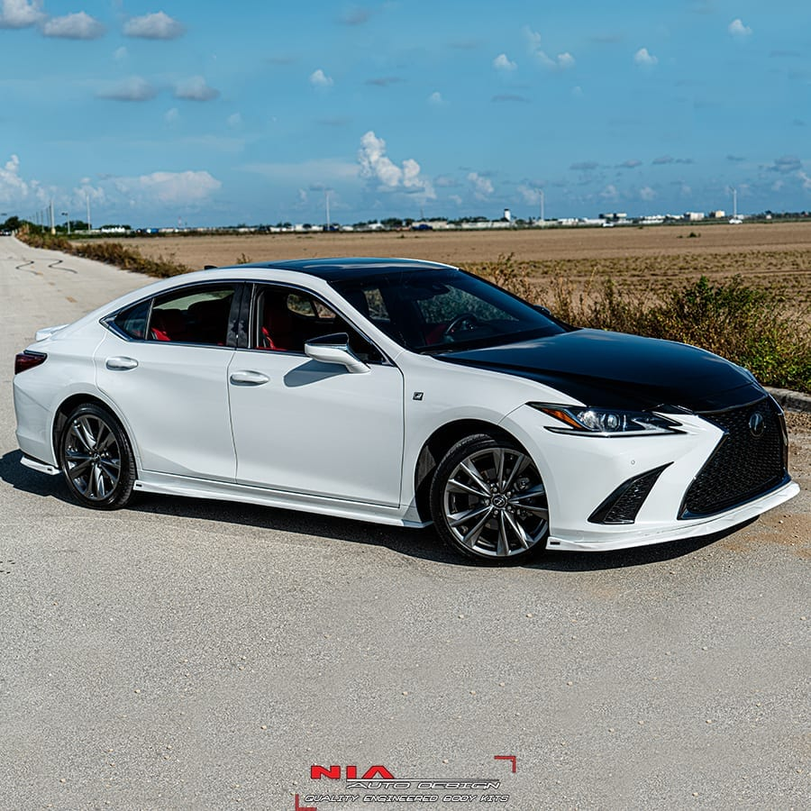 lexus es350 es300 nia side skirts splitter lip body kit 2019