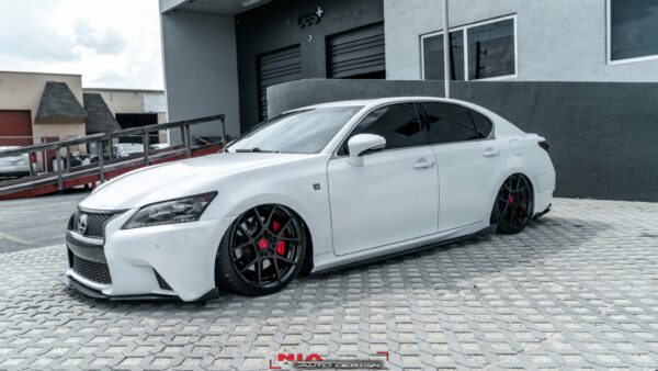 lexus gs350 side skirt nia sleek splitter diffuser