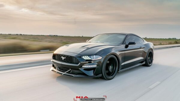 mustang s550 front body lip diffuser